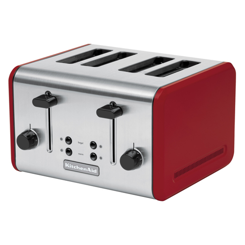 KitchenAid Empire Red 4-Slot Toaster with Extra Wide Slots
