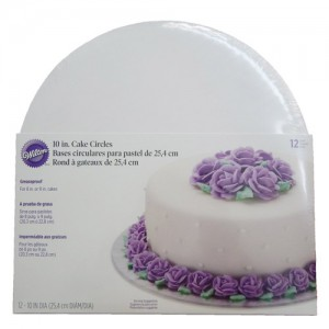 "12-Pack 10"" Cake Board Circles"