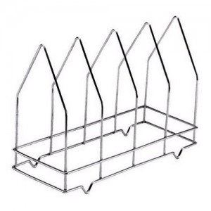 4-Slot Wire Pizza Screen Rack