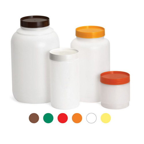 1GL Plastic Backup Container - Assorted Colour Caps