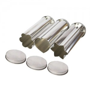 3-Piece Steel Canape Bread Mold Set