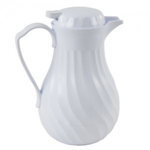 White Insulated Plastic Swirl Server