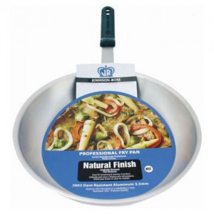 Natural Finish Fry Pan with Heat Resistant Handle