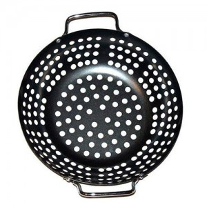 """11x2.5"""" Perforated Grill Top Wok"""