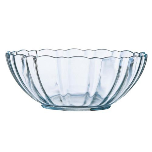 Scallop Edge Round Glass Arcade Bowl