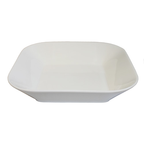 Royal Classic Tapered Square Shallow Bowl With Round Corners