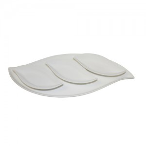 "Royal Classic Three 8x3.5"" Leaf Plate with 18.5"" Leaf Tray"