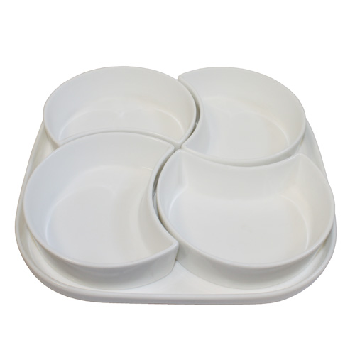"Royal Classic Sampling Set with Four 5"" Bowls and 9.75"" Tray"