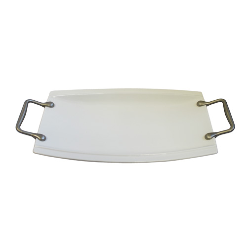 Royal Classic Convex Serving Platter With Metal Handles