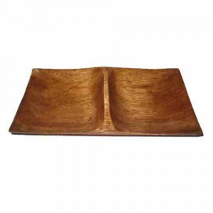 """4x7.5"""" 2-Section Wood Rectangle Plate"""