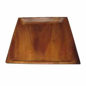 "6"" Square Wood Flat Plate"
