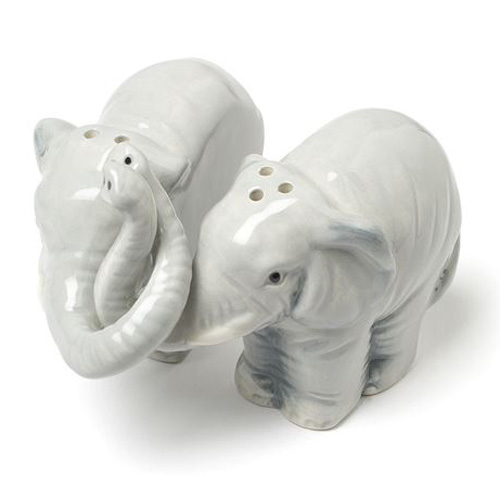 Hugging Elephant Salt and Pepper Shakers