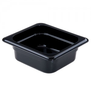 1/6 Size Black Food Pan