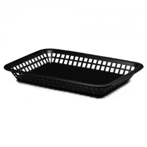 Black Rectangle Plastic Basket
