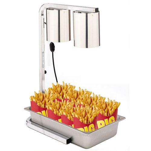 2-Bulb Freestanding Heat Lamp Display Warmer