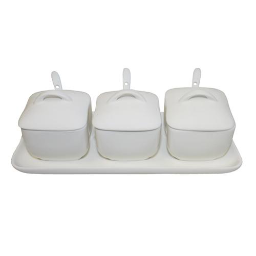 Royal Classic Four Piece Condiment Set