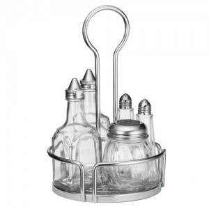 6-Piece Condiment Set with Caddy