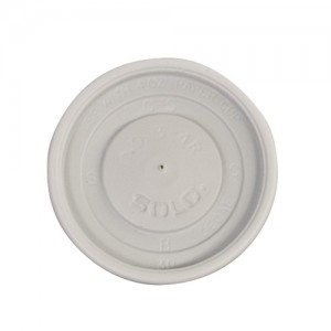 4 oz. White Plastic Hot Drink Lid - 100 PCS