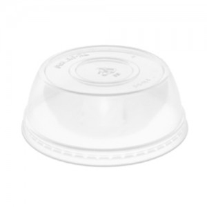 "1"" Clear Dome Lids - 100 CT"