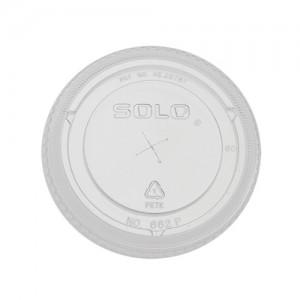 Flat Plastic Cold Cup Lids - 100 PCS