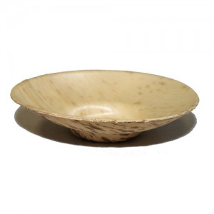 50-Pack 8.5cm Footed Bamboo Sheath Saucer