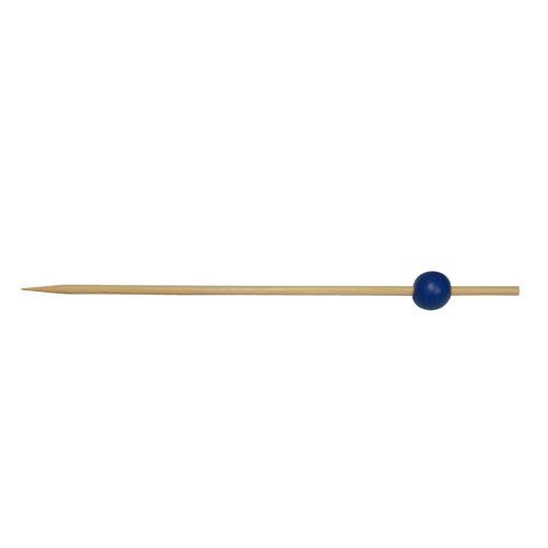 50-Pack 12CM Blue Round Bead Skewers