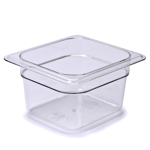 1/6x4IN. Clear Food Pan