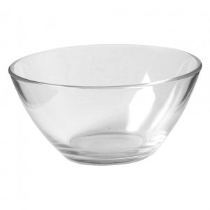 5IN. Round Tapered Glass Bowl