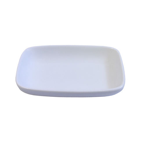 "Royal Classic 4x2.75"" Round Edge Rectangle Shallow Sauce Dish"