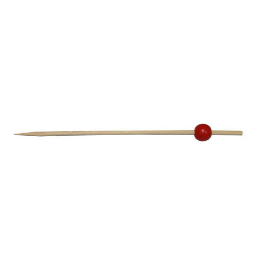50-Pack 12CM Red Round Bead Skewers
