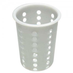 White Plastic Cutlery Cylinder