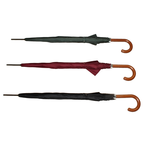 "27"" Wood Handle Umbrella: 3 Assorted Colours"