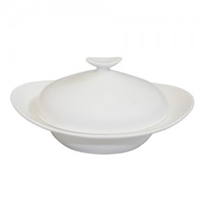 "Royal Classic 7.5"" Oval Soup Bowl With Lid"