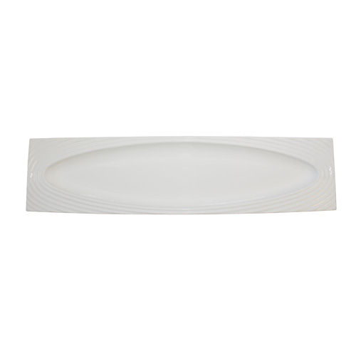 "Royal Classic 19.75x5"" Rectangle Swirl Platter With Oval Inset"