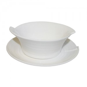 "Royal Classic 4.75"" Cut Edge Soup Bowl With  6.25"" Saucer"