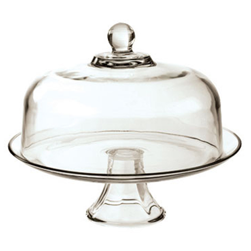 Presence Glass Cake Stand with Cover