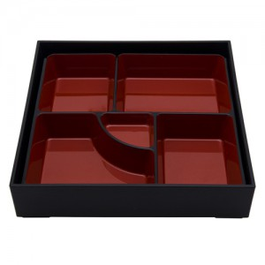 5-Compartment Square Bento Box