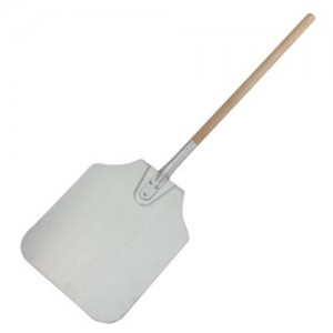 "12x14x36"" Aluminum Pizza Peel with Wood Handle"