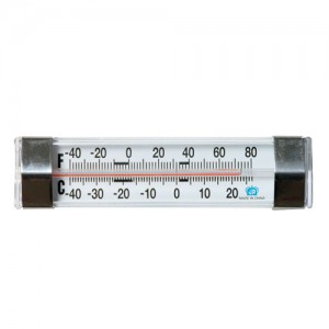 Horizontal Refrigerator / Freezer Thermometer