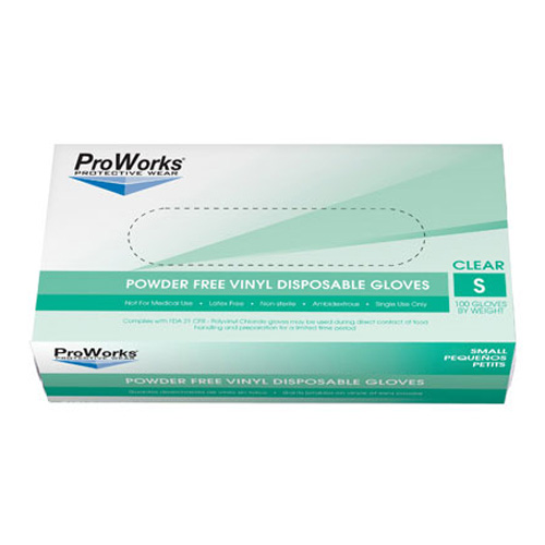 Disposable Powder Free Vinly Gloves - 100 CT