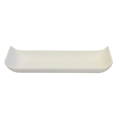 "Royal Classic 13.75x4"" Rectangle Curled Edge Plate"