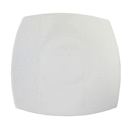 "Royal Classic 10.5"" Double Rim Pebbled Square Plate"