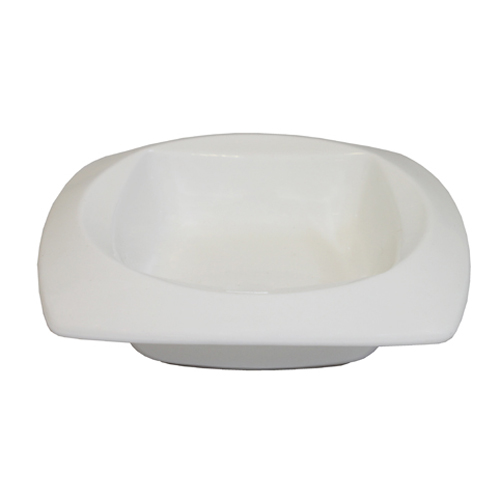 """Royal Classic 4.5"""" Mini Round Edge Square Tasting Plate With Square Inset"""