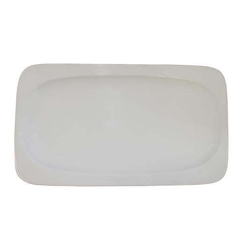 Royal Classic Round Edge Rectangle Plate With Inset