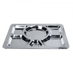 6-Compartment S/S Mess Tray