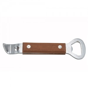 Winco Wood Handle Can and Bottle Opener