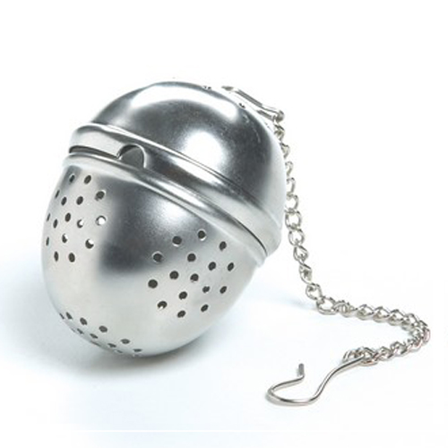 4-Teaspoon Chrome Plated Tea Ball with Chain