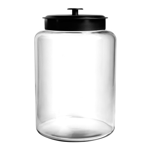 2.5GL Montana Glass Jar with Black Cover