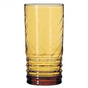 12 oz. Amber Old Fashion Hi-Ball Glass
