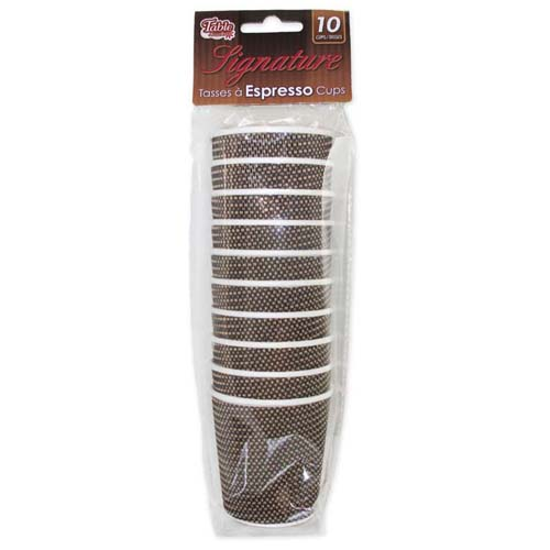 10-Pack 4 oz. Disposable Espresso Cups
